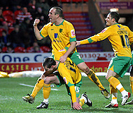 Doncaster - Friday January 30th 2009: Jonathan Grounds & Lee Croft of Norwich City Celebrate scoring a goal during the Coca Cola Championship Match at The Keepmoat Stadium Doncaster. (Pic by Steven Price/Focus Images)
