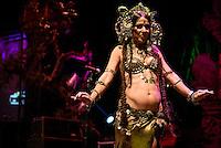 Deb Rubin performing at the Bali Spirit Festival, Ubud, Bali, Indonesia, 3/4/2015.