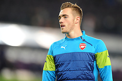 Arsenal's Calum Chambers - Photo mandatory by-line: Dougie Allward/JMP - Mobile: 07966 386802 - 22/10/2014 - SPORT - Football - Anderlecht - Constant Vanden Stockstadion - R.S.C. Anderlecht v Arsenal - UEFA Champions League - Group D