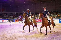 Van Den Brink Stefanie (NED) - A Zarah and Sleiderink Sjaak (NED) - W Zarah<br /> Sleiderink Sjaak (NED) - W Zarah<br /> KWPN Stallion Selection - 's Hertogenbosch 2014<br /> © Dirk Caremans