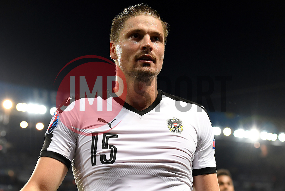 Sebastian Prodl of Austria  - Mandatory by-line: Joe Meredith/JMP - 18/06/2016 - FOOTBALL - Parc des Princes - Paris, France - Portugal v Austria - UEFA European Championship Group F