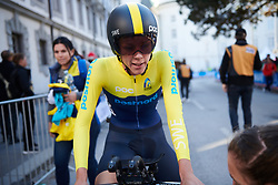 Emilia Fahlin (SWE) recovers after the UCI Road World Championships 2018 - Elite Women's ITT, a 27.7 km individual time trial in Innsbruck, Austria on September 25, 2018. Photo by Sean Robinson/velofocus.com