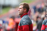 Charlton Athletic Manager Karl Robinson with tongue out during the EFL Sky Bet League 1 match between Charlton Athletic and AFC Wimbledon at The Valley, London, England on 28 October 2017. Photo by Matthew Redman.