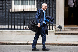 © Licensed to London News Pictures. 08/02/2018. London, UK. Kazuo Okamato, Chief Executive of Mitsubishi Heavy Industries Europe, arrives at 10 Downing Street for a roundtable discussion with Prime Minister Theresa May, The Chancellor of The Exchequer Philip Hammond and select Cabinet Ministers on Japanese business and Brexit. Photo credit: Rob Pinney/LNP