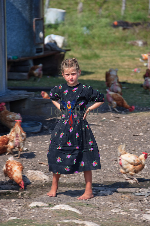 Mennonite farm girl from the Mennonite community of Shipyard