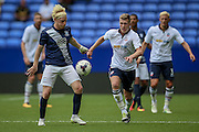 Ben Pringle (Preston North End) and Josh Vela (Bolton Wanderers) during the Pre-Season Friendly match between Bolton Wanderers and Preston North End at the Macron Stadium, Bolton, England on 30 July 2016. Photo by Mark P Doherty.
