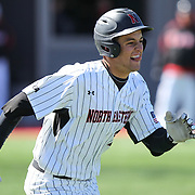 Jason Vosler #22 of the Northeastern Huskies runs to first base during the game at Friedman Diamond on March 16, 2014 in Brookline, Massachusetts. (Photo by Elan Kawesch)