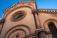 La facciata della chiesa di Sant'Antonio nella zona ottocentesca di Ostuni