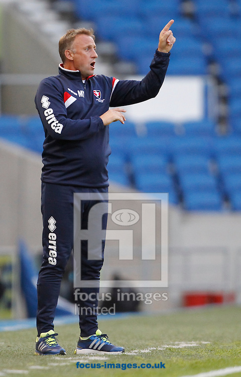 Mark Yates, Manager of Cheltenham Town during the Capital One Cup match at the American Express Community Stadium, Brighton and Hove<br /> Picture by Paul Terry/Focus Images Ltd +44 7545 642257<br /> 12/08/2014