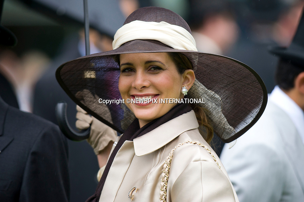 """ROYAL ASCOT 2011 DAY 4..Sheikh Mohammed bin Rashid Al Maktoum and  Princess Haya, Friday at Royal Ascot_17/06/2011..Mandatory Photo Credit: ©Dias/Newspix International..**ALL FEES PAYABLE TO: """"NEWSPIX INTERNATIONAL""""**..PHOTO CREDIT MANDATORY!!: NEWSPIX INTERNATIONAL(Failure to credit will incur a surcharge of 100% of reproduction fees)..IMMEDIATE CONFIRMATION OF USAGE REQUIRED:.Newspix International, 31 Chinnery Hill, Bishop's Stortford, ENGLAND CM23 3PS.Tel:+441279 324672  ; Fax: +441279656877.Mobile:  0777568 1153.e-mail: info@newspixinternational.co.uk"""