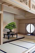 Photo shows the shin style of zashiki, the most prestigious style of Japanese room, at the Saitama Omiya Bonsai Museum of Art in Saitama, Japan on 15 Aug. 2011..Photographer: Robert Gilhooly
