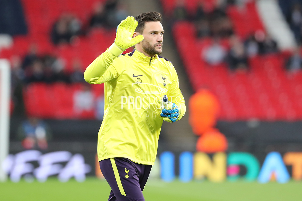 Tottenham Hostpur goalkeeper Hugo Lloris (1) warming up during the Champions League match between Tottenham Hotspur and Real Madrid at Wembley Stadium, London, England on 1 November 2017. Photo by Matthew Redman.