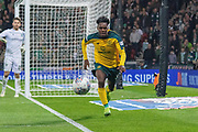 Jeremie Frimpong of Celtic chasing down the ball during the Betfred Scottish League Cup semi-final match between Hibernian and Celtic at Hampden Park, Glasgow, United Kingdom on 2 November 2019.