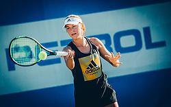 Kaja Juvan at practice session during ATP Challenger Zavarovalnica Sava Slovenia Open 2017, on August 12, 2017 in Sports centre, Portoroz/Portorose, Slovenia. Photo by Vid Ponikvar / Sportida