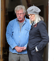 Actors Diane Keaton, Brendan Gleeson and Philip Davis filming scenes for the new film 'Hampstead' in Hampstead, London, UK. 22/05/2016<br /> BYLINE MUST READ : JAMESY/GOTCHA IMAGES<br /> <br /> Copyright by © Gotcha Images Ltd. All rights reserved.<br /> Usage of this image is conditional upon the acceptance <br /> of Gotcha Images Ltd, terms and conditions available at<br /> www.gotchaimages.com