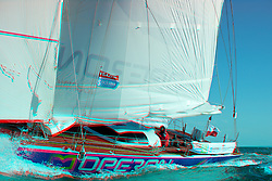 3D Photo, October 11th 2010 France La Rochelle, Zbigniew Gutkowski training in La Rochelle anf getting ready for the Velux 5 Ocean. Team sponsored by Operon, Team Name Operon Racing