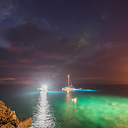 The manta ray dive site at the Sheraton Kona Resort and Spa, Big Island, Hawaii, USA. Photo © William Drumm, 2013.