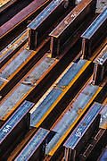Steel beams for building construction