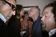 Broosk Saib, Saffron Aldridge, John Pearce and Alastair Cudderford. Irving Penn: Now & Then, private view, Hamiltons Gallery, 13 Carlos Place, London, W1, 13 September 2006. ONE TIME USE ONLY - DO NOT ARCHIVE  © Copyright Photograph by Dafydd Jones 66 Stockwell Park Rd. London SW9 0DA Tel 020 7733 0108 www.dafjones.com