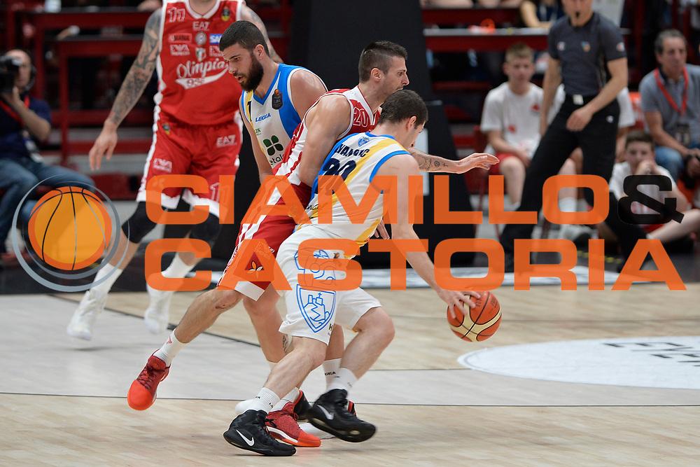 Nikola Ivanovic<br /> Olimpia EA7 Emporio Armani Milano vs Vanoli Cremona<br /> Lega Basket Serie A 2016/2017<br /> PlayOff semifinale gara 2<br /> Milano 14/05/2017<br /> Foto Ciamillo-Castoria / I.Mancini
