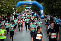 November 12, 2017 - Athens, Attica, Greece - Kids participate to the small 3km marathon during the 35th Athens Classic Marathon in Athens, Greece, November 12, 2017. (Credit Image: © Giorgos Georgiou/NurPhoto via ZUMA Press)