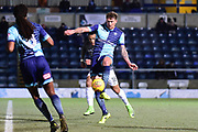 Wycombe Wanderers defender (on loan from Birmingham City) Dan Scarr (28) on defensive duties during the EFL Sky Bet League 2 match between Wycombe Wanderers and Coventry City at Adams Park, High Wycombe, England on 27 February 2018. Picture by Dennis Goodwin.