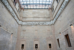 Interior of Greek Courtyard in the newly renovated Neues Museum on the Museuminsel in central Berlin reopened after many years construction work Architect David Chipperfield March 2009