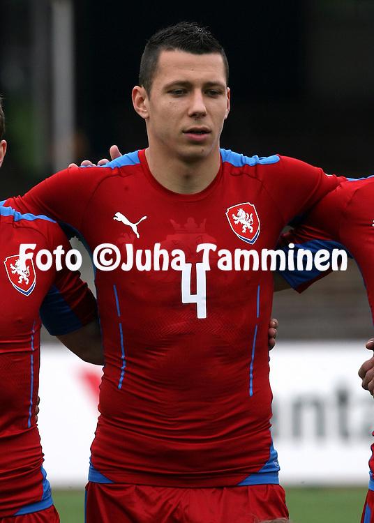 21.5.2014, Olympic Stadium, Helsinki, Finland.<br /> Friendly International match Finland v Czech Republic.<br /> Marek Suchy - Czech Rep.