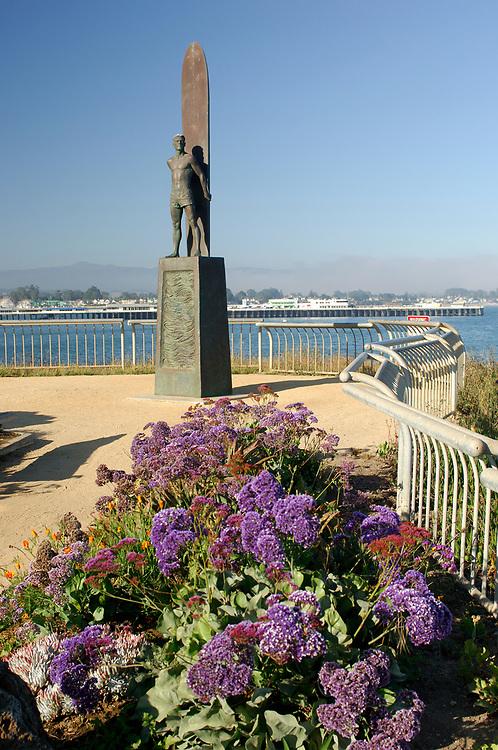 Surfer Statue, Lighthouse Field State Park, Santa Cruz, California, United States of America
