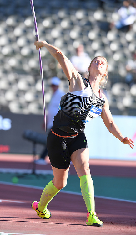 Sep 9, 2016; Brussels, Belgium; Barbora Spotakova (CZE) places second in the women's javelin at 209-3 (63.78m) in the 41st Memorial Van Damme at King Baudouin Stadium. Photo by Jiro Mochiuzki