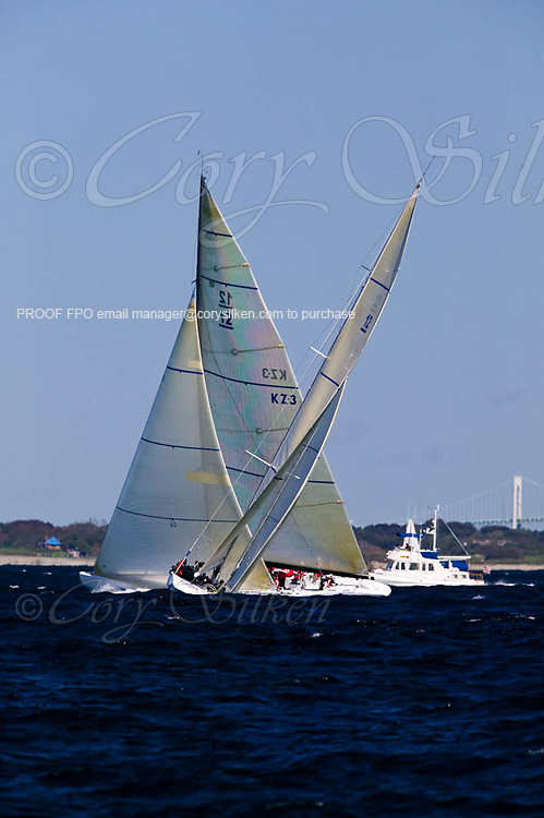 Wright on White KZ3 and USA 61, Grand Prix class at the 12 Meter Class North American Championship