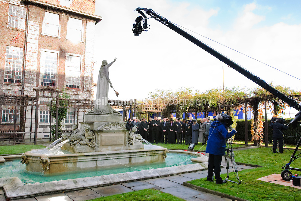 Remembrance service at Reckitt Benckiser Hull site transmitted live to BBC television. November 11, 2008 frounted by presenter Dan Snow