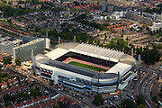 Nederland, Noord-Brabant, Eindhoven, 27-05-2013; <br /> Philips Stadion (PSV Stadion), in de wijk Oud-Strijp; naast het voetbalstadion het oude Philipsdorp. Philips Stadion (PSV Stadium) in the Old-Strijp district, next to the football stadium to the old 'Philips Village'<br /> <br /> luchtfoto (toeslag op standard tarieven);<br /> aerial photo (additional fee required);<br /> copyright foto/photo Siebe Swart