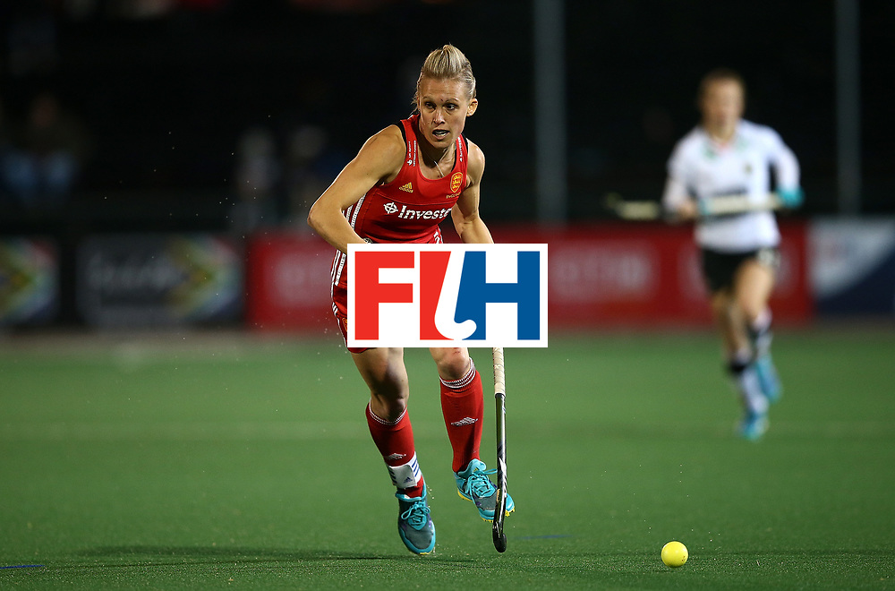 JOHANNESBURG, SOUTH AFRICA - JULY 14:  Alex Danson of England controls the ball during day 4 of the FIH Hockey World League Women's Semi Finals Pool A match between Germany and England at Wits University on July 14, 2017 in Johannesburg, South Africa.  (Photo by Jan Kruger/Getty Images for FIH)