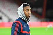 Joe Willock (28) of Arsenal on the pitch ahead of the The FA Cup match between Bournemouth and Arsenal at the Vitality Stadium, Bournemouth, England on 27 January 2020.