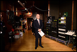 Image ©Licensed to i-Images Picture Agency. 28/09/2014. Birmingham, United Kingdom. William Hague behind the stage before making his last speech to the  Conservative Party Conference.Picture by Andrew Parsons / i-Images