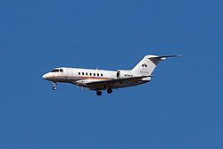 Hawker 4000 Horizon (N230JE) operated by Talon Air with the The Setai livery on approach to San Francisco International Airport (KSFO), San Francisco, California, United States of America