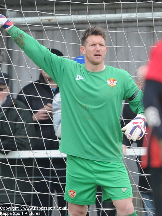Richard Knight Goalkeeper  Kettering Town,  KetteringTown, Kettering Town v Bedford Town, Evo-stik Southern League Central Division,  Latimer Park Saturday 4th April 2015<br /> Score Kettering 2 (Lee, Sandy,) Bedford 0<br /> Att 984