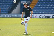Southend United Midfielder, Jack Bridge warms up during the Sky Bet League 1 match between Bury and Southend United at the JD Stadium, Bury, England on 8 May 2016. Photo by Mark Pollitt.