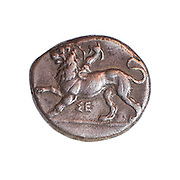 Peloponnesos, Sikyo, 430-390 BCE Silver stater Ancient Greek coin (private collection)