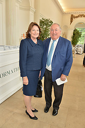SIR ANTHONY & LADY OPPENHEIMERat the Goffs London Sale held at The Orangery, Kensington Palace, London on 12th June 2016.