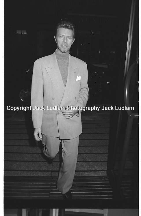 David Bowie and Iman, newly wed in 1992 have a quite meal at  Matsuri<br /> Mayfair<br /> Exclusive