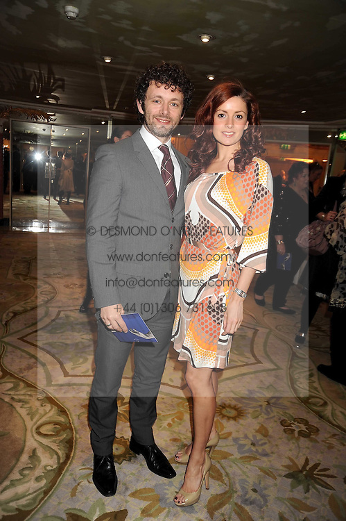 MICHAEL SHEEN and LORRAINE STEWART at the 2009 South Bank Show Awards held at The Dorchester, Park Lane, London on 20th January 2009.