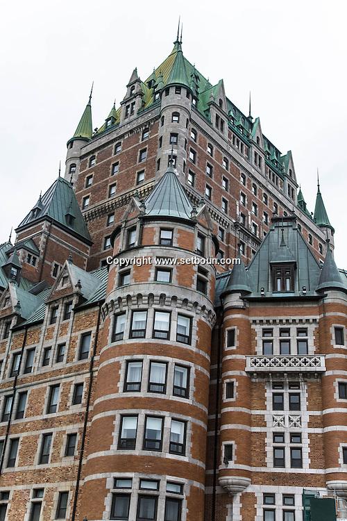 Canada. Quebec. The Chateau Frontenac , Fairmont hotel in the old city   / le chateau Frontenac, hotel Fairmont. dans la vielle ville