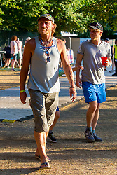 EXCLUSIVE: Game of Thrones star Jerome Flynn was seen enjoying lunch with friends at the British Summer Time Festival in London's Hyde Park. The ex-singer from duo 'Robson and Jerome' plays character Bronn in the hugely popular show. 15 Jul 2018 Pictured: Jerome Flynn. Photo credit: MEGA TheMegaAgency.com +1 888 505 6342