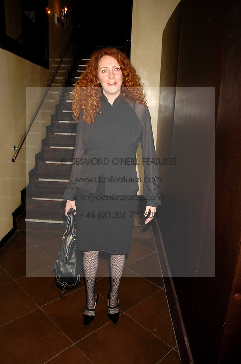 REBEKAH WADE at a party to celebrate the publication of Piers Morgan's book 'Don't You Know Who I Am?' held at Paper, 68 Regent Street, London W1 on 18th April 2007.<br />