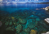 Lake Tahoe Landscape, Lake Tahoe Clear Water and Shoreline
