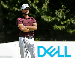 September 2, 2018 - Norton, Massachusetts, United States - Abraham Ancer waits on the 4th tee during the third round of the Dell Technologies Championship. (Credit Image: © Debby Wong/ZUMA Wire)