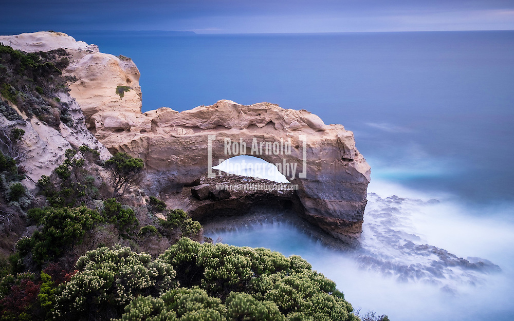The Arch, located along the Great Ocean Road northwest of Port Campbell and the Twelve Apostles