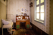 A look into the faithful and modeled replica of Gregor Samsa's room in the Goethe Institut Prag.